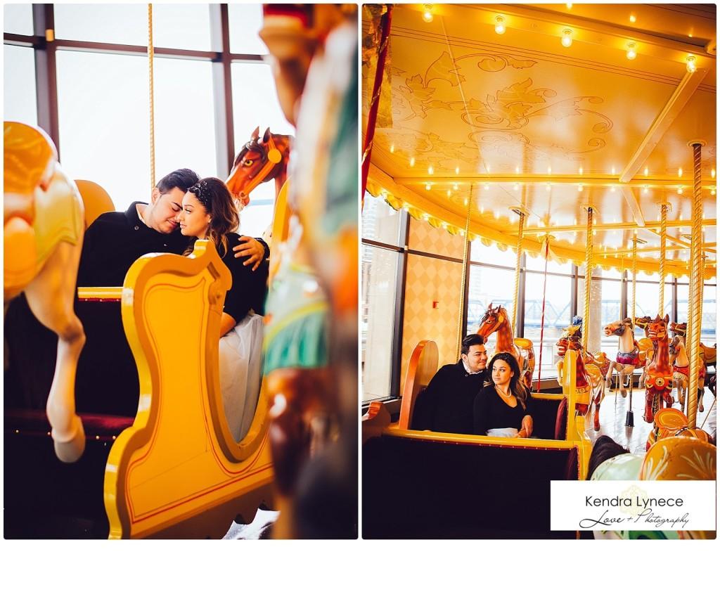 Grand Rapids Public Museum wedding engagement session, downtown grand rapids engagement photography, museum engagement photography, tutu engagement photos inspiration, tutu carousel wedding engagement photos