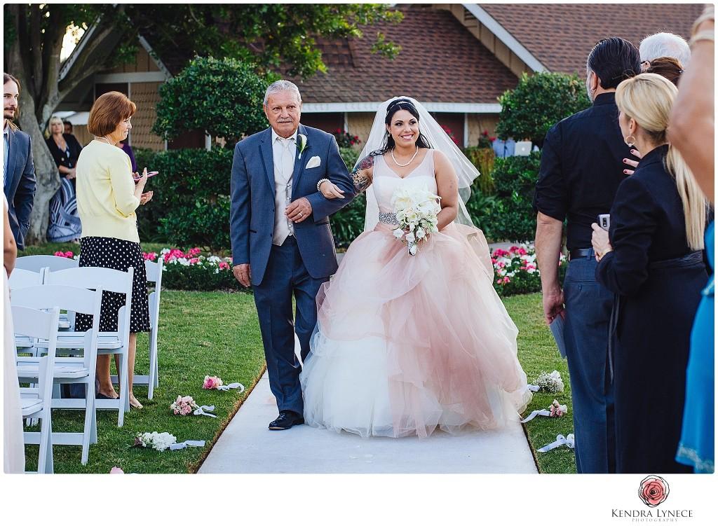 Grand Tradition Estate & Gardens wedding photos, fallbrook california wedding photographer , friday 13th wedding photos, tattoed bride, father of the bride, walk bride down aisle, san diego wedding photography