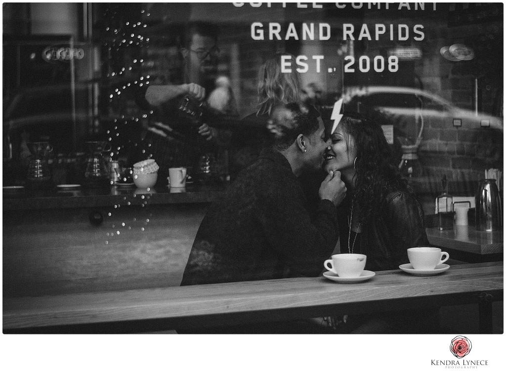 madcap coffee downtown grand rapids michigan, Michigan wedding engagement photos, downtown grand rapids engagement photos, philly engagement photographer, rainy day engagement photos