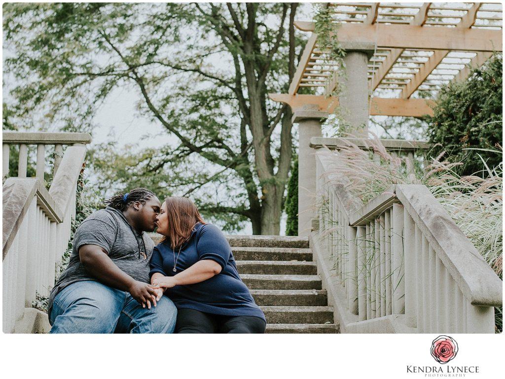 intimate France Park Lansing Michigan wedding engagement photos