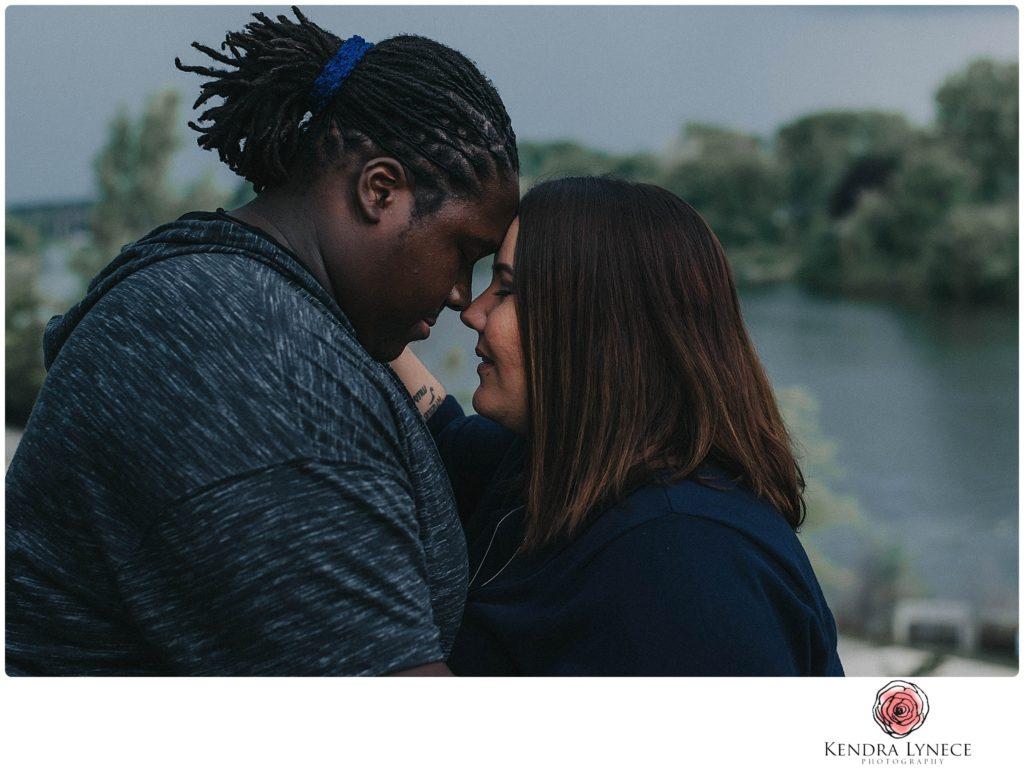 intimate Frances Park Lansing Michigan wedding engagement photos