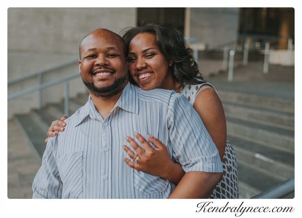 Grand Rapids Art Museum Engagement Photos By African American Wedding Photographer Kendra Lynece