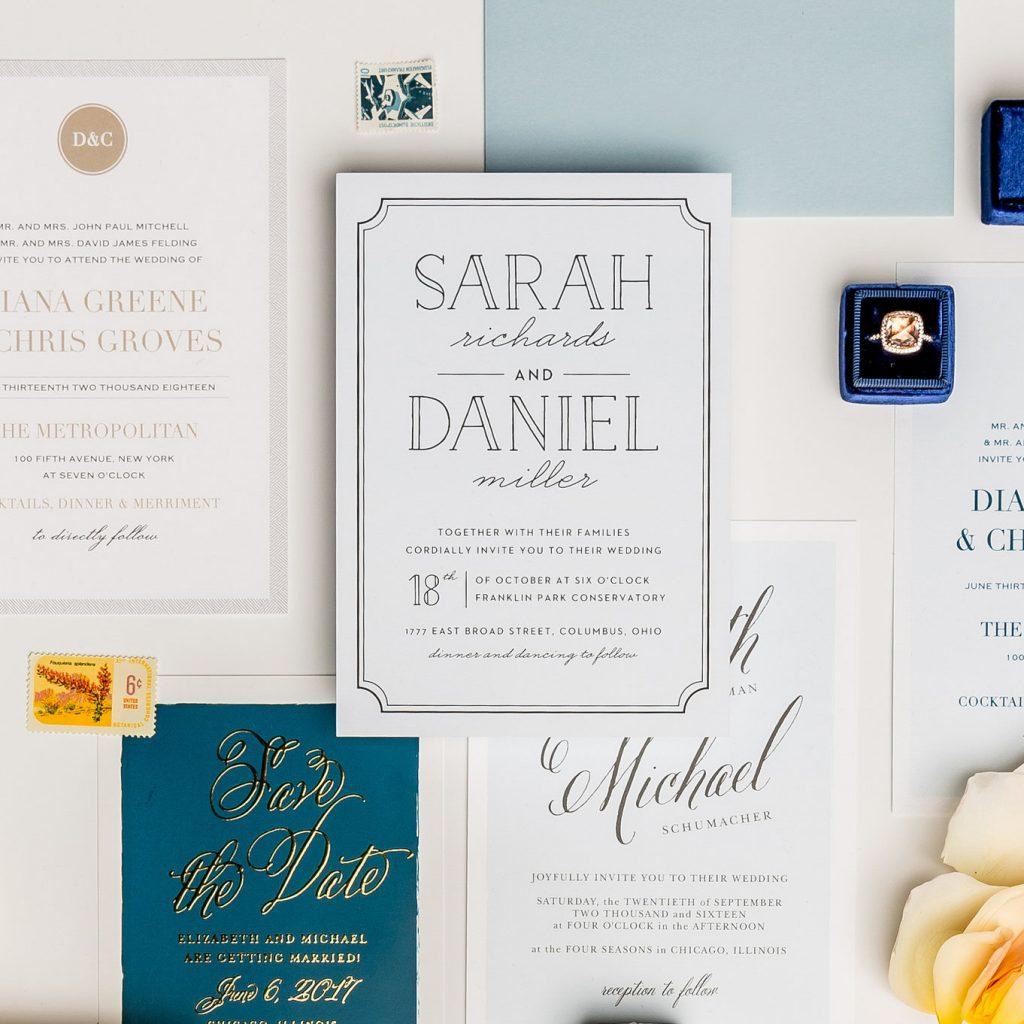 Basic Invite Utah Wedding Stationery Kendra Lynece Photographer