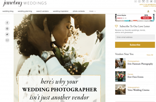 Why your wedding photographer isnt just another wedding vendor junebug weddings, junebug weddings, black wedding photographer,